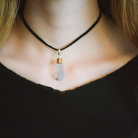 Crystal Quartz Choker Necklace