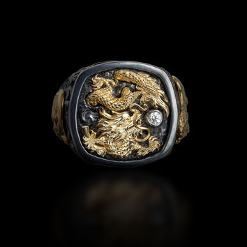 "Galatea: Men's ""Rising Dragon"" Ring from the Capitan Collection"