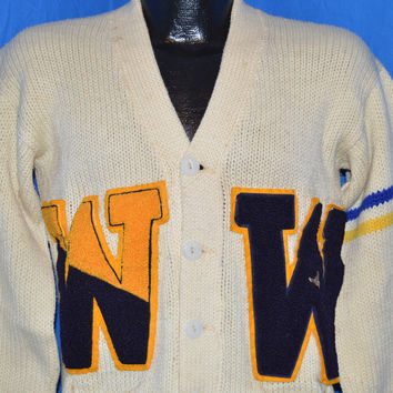 40s Princeton Knitting Mills Varsity Letterman Sweater Medium