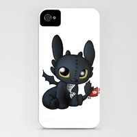 Chibi Toothless iPhone & iPod Case by Katie Simpson