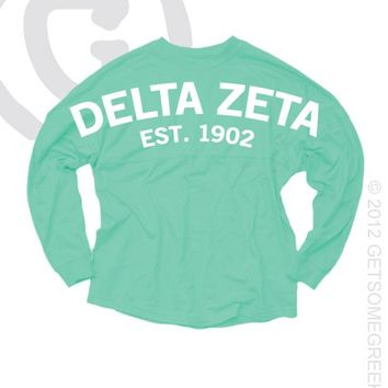 Delta Zeta Greek Boutique Store - Coastal Jersey Long Sleeve Tops