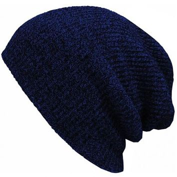 Perfect Fashion Stripe Crochet Women Men Beanies Winter Knit Hat Cap