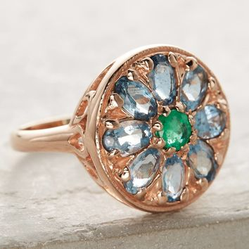 Emerald Mandala Ring
