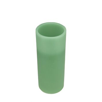 "6"" Sage Green Battery Operated Flameless LED Lighted Flickering Wax Christmas Pillar Candle"