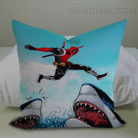 Deadpool Jumps Pillow Case, Pillow Cover, Custom Pillow Case