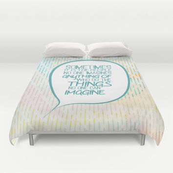 Imitation game.. sometimes the people, alan turing quote Duvet Cover by Studiomarshallarts