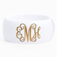 Moon and Lola 'Vine Font' Personalized Monogram Bracelet