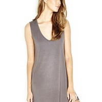 Michael Lauren Diamond V-Neck Sleeveless Dress in Coal | Boutique To You