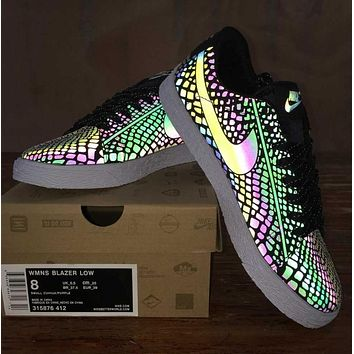 NIKE BLAZER Woman Men Fashion Reflective Chameleon Sneakers Sport Shoes