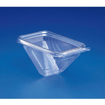 Safe T Fresh Tamper Evident Plastic Sandwich Wedge Hinged Container/Case of 288