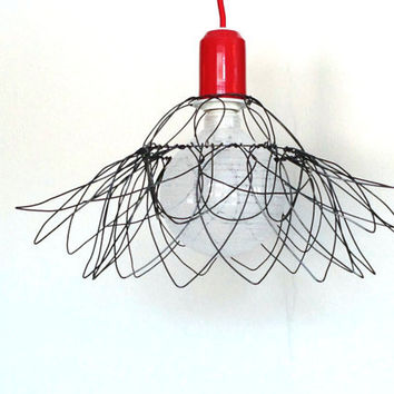 ceiling Lamp Shade Wire Sunrose lighting Rustic shabby chic slightly adaptative Made to Order Uniqe