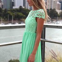 PRE ORDER - SPLENDED ANGEL DRESS (Expected Delivery 21st May, 2014) , DRESSES, TOPS, BOTTOMS, JACKETS & JUMPERS, ACCESSORIES, 50% OFF SALE, PRE ORDER, NEW ARRIVALS, PLAYSUIT, COLOUR, GIFT VOUCHER,,Green,Print,LACE,SHORT SLEEVE,MINI Australia, Queensland, B
