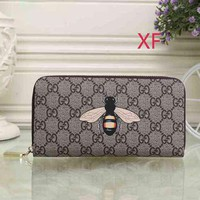 LV Louis Vuitton Fashion Round Leather Key Pouch Wallet Coin Purse