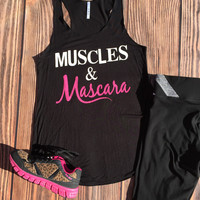 Muscles and Mascara Tank Top in Black