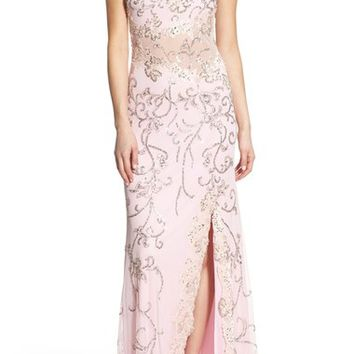 Mac Duggal Illusion Sequin Gown | Nordstrom