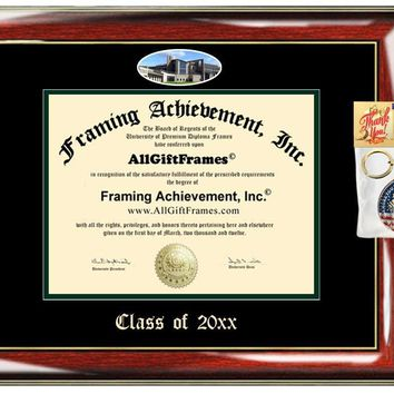 AllGiftFrames Custom Diploma Frame Embossed College UWGB Best Graduation Degree Frame Double University of Wisconsin Green Bay Campus Fisheye Picture Frame Cheap Gift