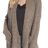Dreamers by Debut Rib Knit Open Cardigan | Nordstrom