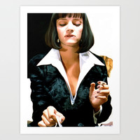 Uma Thurman @ Pulp Fiction Art Print by Gabriel T Toro