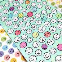 funny face happy face sticker facial expression deco sticker emoticons smiley label sticker cartoon face planner sticker diary sticker