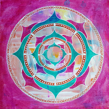Mandala Painting - Mandala Art - Healing Mandala - Meditation Mandala - Fine Art - Mixed Media Mandala - Home Decor, Wall Art, Original Art