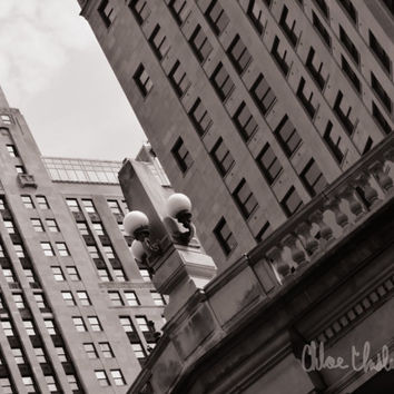 Black & White Photography - The Bridge - fine art print, home decor, wall photo, chicago