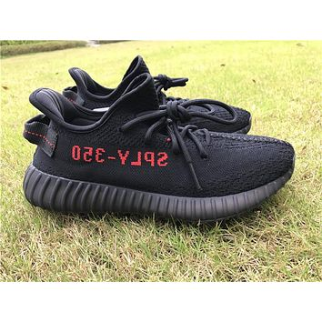 Adidas yeezy 350 Boost v2 black red Basketball Shoes 40-47