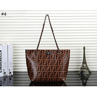 Fendi trend female fashion double F letter embossed shoulder bag diagonal female bag #4