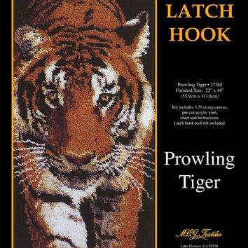 "Prowling Tiger Latch Hook Kit 22""X44"""