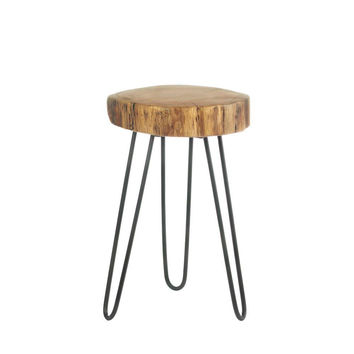 Accent Tables, Wooden Table Top High Top Dining Table Log Top Accent Table