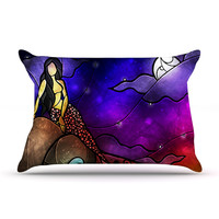 "Mandie Manzano ""Fairy Tale Mermaid"" Pillow Case"