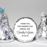 Personalized Hershey Kisses Stickers & Labels, Wedding Favor, Chocolate Candy Kiss Labels, Kiss Hershey labels, Kisses stickers,