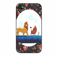 The Lion King Disney Floral iPhone 4 Case