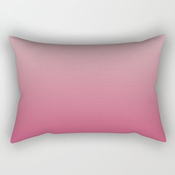 Soft Rose Ombre Rectangular Pillow by Lindsay