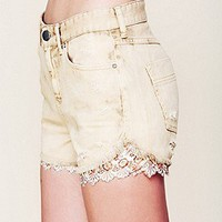 Free People  Embroidered Hanky Cutoff at Free People Clothing Boutique
