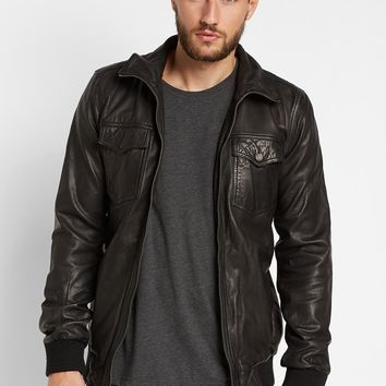 REVOLUTION 7132 Leather Jacket With Four Pockets