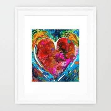 Colorful Heart Art - Everlasting - By Sharon Cummings Framed Art Print by Sharon Cummings