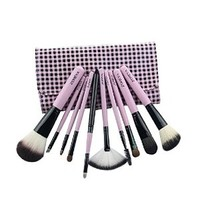 Professional Beauty 10pcs Makeup Cosmetic Brushes Set with Pouch