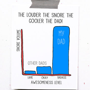 Funny Fathers Day Greeting Card Dad Birthday Snores Too Loud My Is Awesome To Father