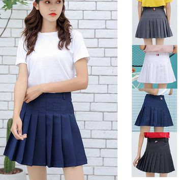 Harajuku Women Skirt Japanese Preppy Style Pleat Skirts Mini Cute School Uniforms Saia Faldas Ladies Jupe Kawaii Skirt SK5203