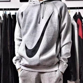 ONETOW Nike Hooded Sweatshirt Pullover Long Sleeved Tops Sweater