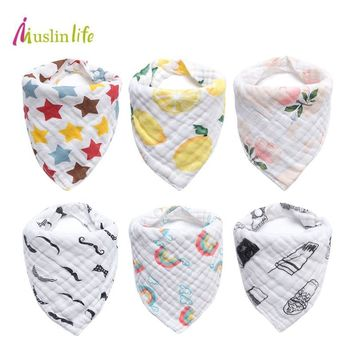 Cotton Baby Bandana Bibs Feeding Baby Apron Soft Baby Bibs for Girls Boys Cartoon Triangle Feeding Burp Cloth Bebe Collar Scarf