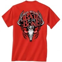 Georgia Bulldogs Bad to the Bone T-Shirt | UGA Bad to the Bone Tee | Georgia Bulldogs Tee