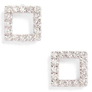 Bony Levy Aurora Diamond Open Square Stud Earrings (Nordstrom Exclusive) | Nordstrom