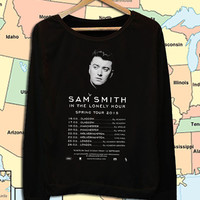 Sam Smith concert 2015 dates crew neck sweatshirt pullover long sleeved
