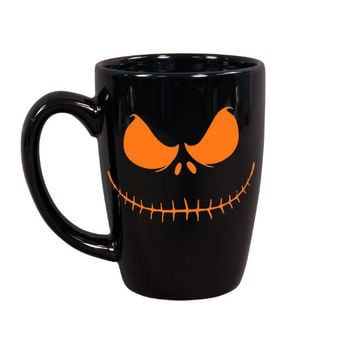 Jack Skellington Coffee Mug, Nightmare Before Christmas Inspired, Halloween Coffee Mugs, Jack Skellington