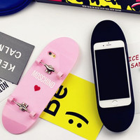 Trendy 3D Graffiti Skateboard Case for Iphone 6 6s plus +Nice Elephant Ring