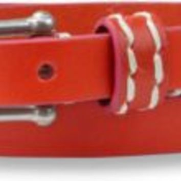 Sperry Top-Sider Contrast Edge Skinny Belt Orange/FuchsiaLeather, Size L  Women's