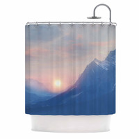 "Viviana Gonzalez ""Pastel Vibes 08 "" Blue Pink  Shower Curtain"