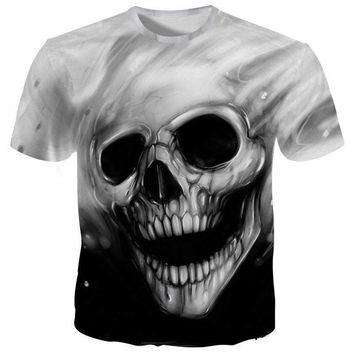 Funny Skull T shirts Men 3D T-shirts Fashion Tops Brand Tees Summer 2018 Printed Camesitas Homme Male Tshirts ZOOTOP BEAR