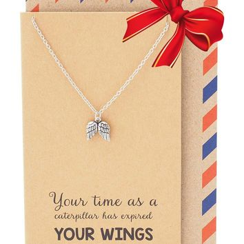 Ezriel Angel Wings Necklace, Graduation Gifts